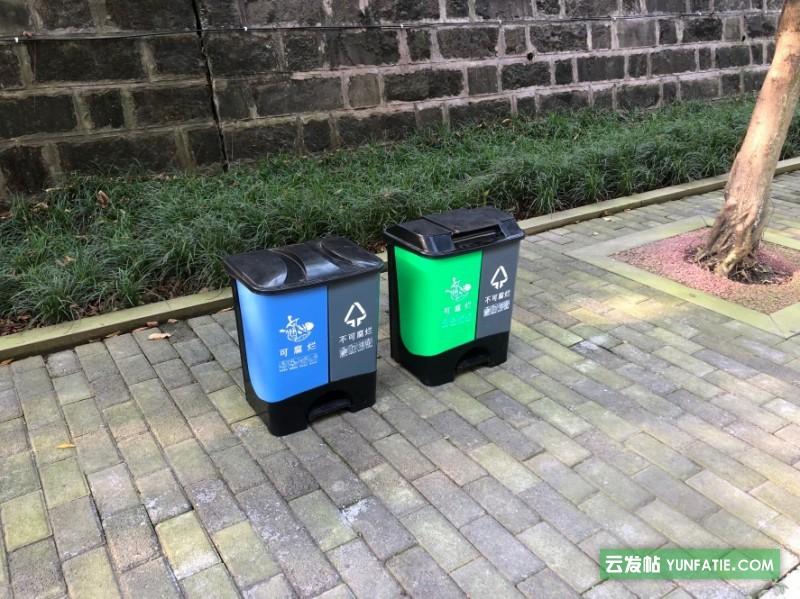 托力卡厂家直销40L厨房分类垃圾桶家用脚踏垃圾箱厂家批发